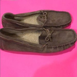 Uggs moccasin-type brown shoes in a size 7